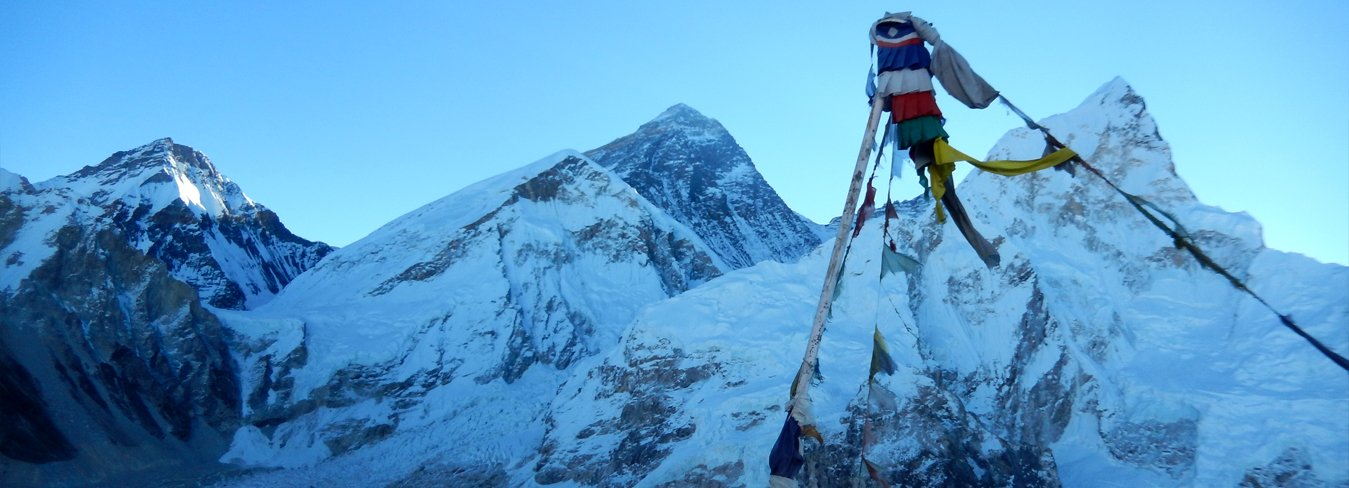Mt.Everest and  Nuptse view from Katapathar
