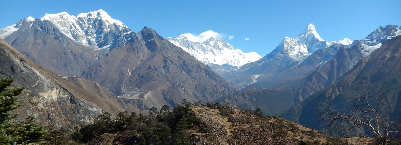 Mountains Views from Khumjung Everest Region